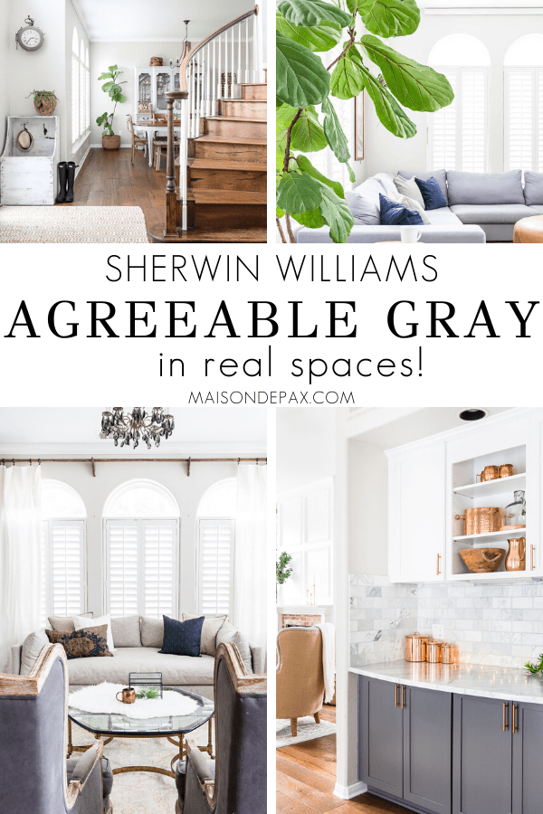 Sherwin Williams Agreeable Gray in real spaces | Maison de Pax