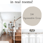 SW Agreeable Gray SW 7029 in real rooms | Maison de Pax