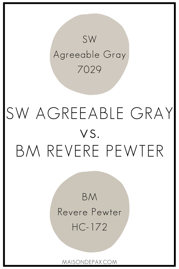 SW Agreeable Gray v BM Revere Pewter | Maison de Pax