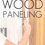 how to paint orange wood paneling white | Maison de Pax