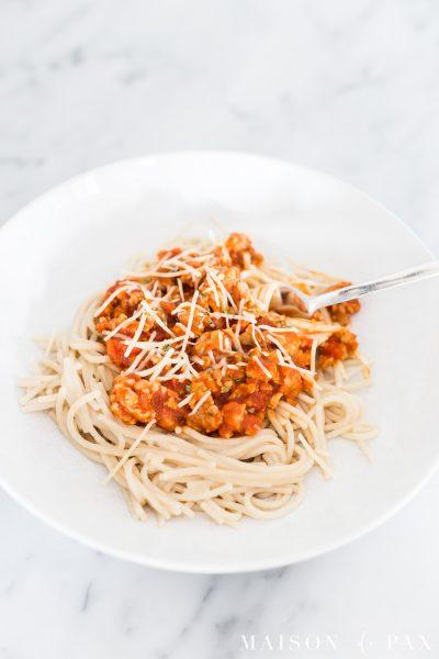 spaghetti and meat sauce | Maison de Pax