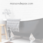 black clawfoot tub with overlay: how to paint a freestanding tub | Maison de Pax