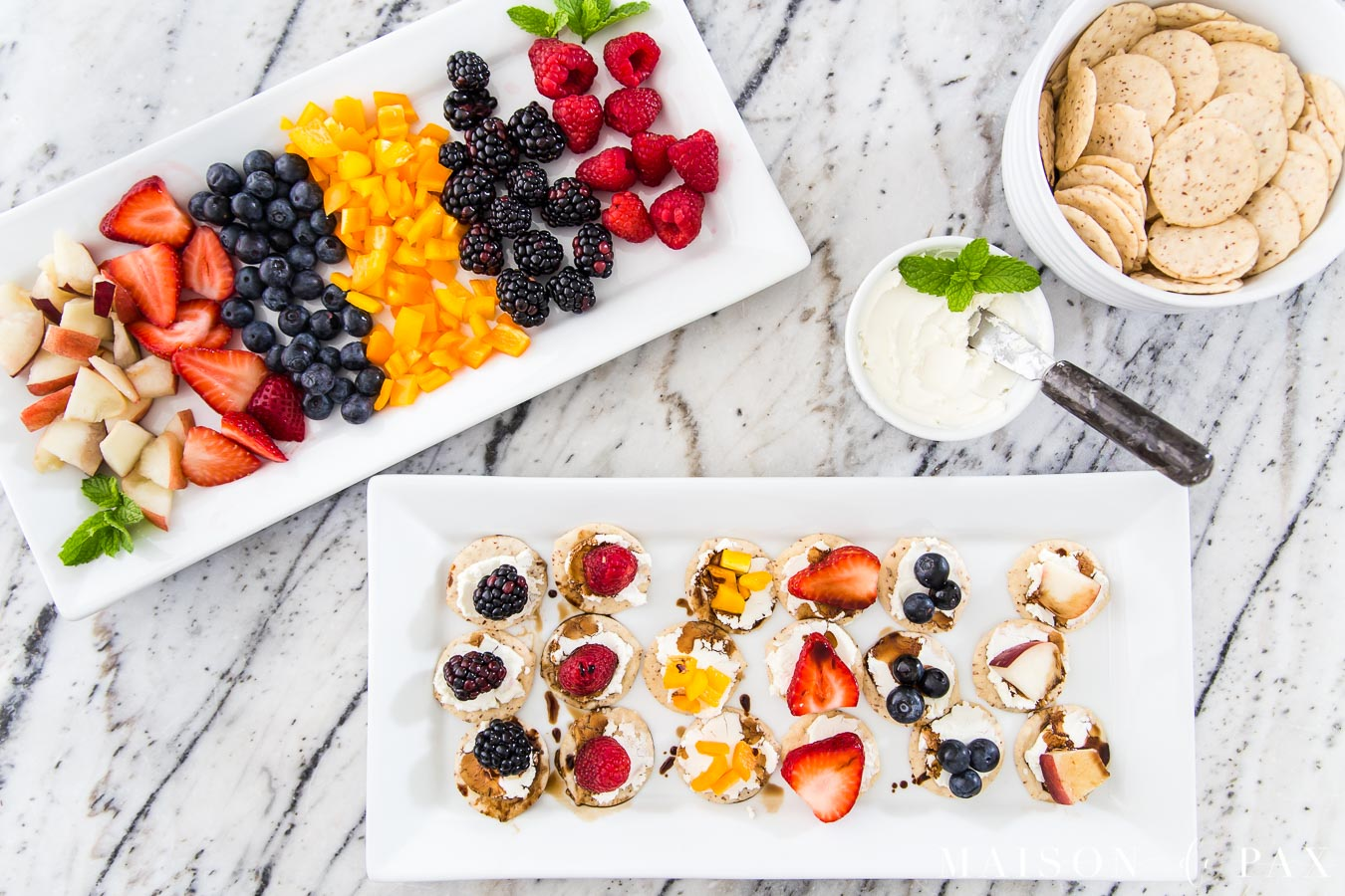 beautiful goat cheese and fruit charcuterie board | Maison de Pax