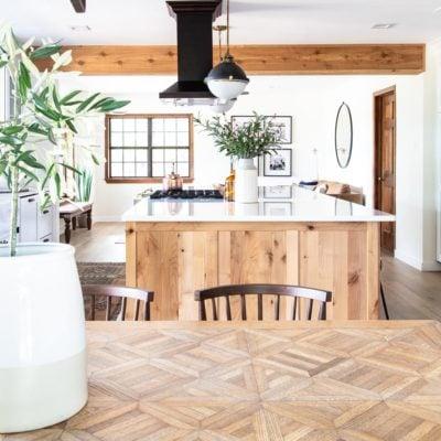 beautiful natural wood kitchen table | Maison de Pax