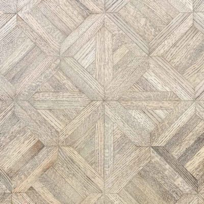 parquet wood table top with a natural looking finish | Maison de Pax
