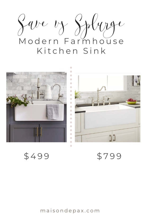 Modern farmhouse apron sink ideas- Maison de Pax