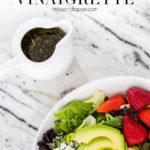 homemade balsamic vinaigrette dressing recipe for Greek salad and more | Maison de Pax