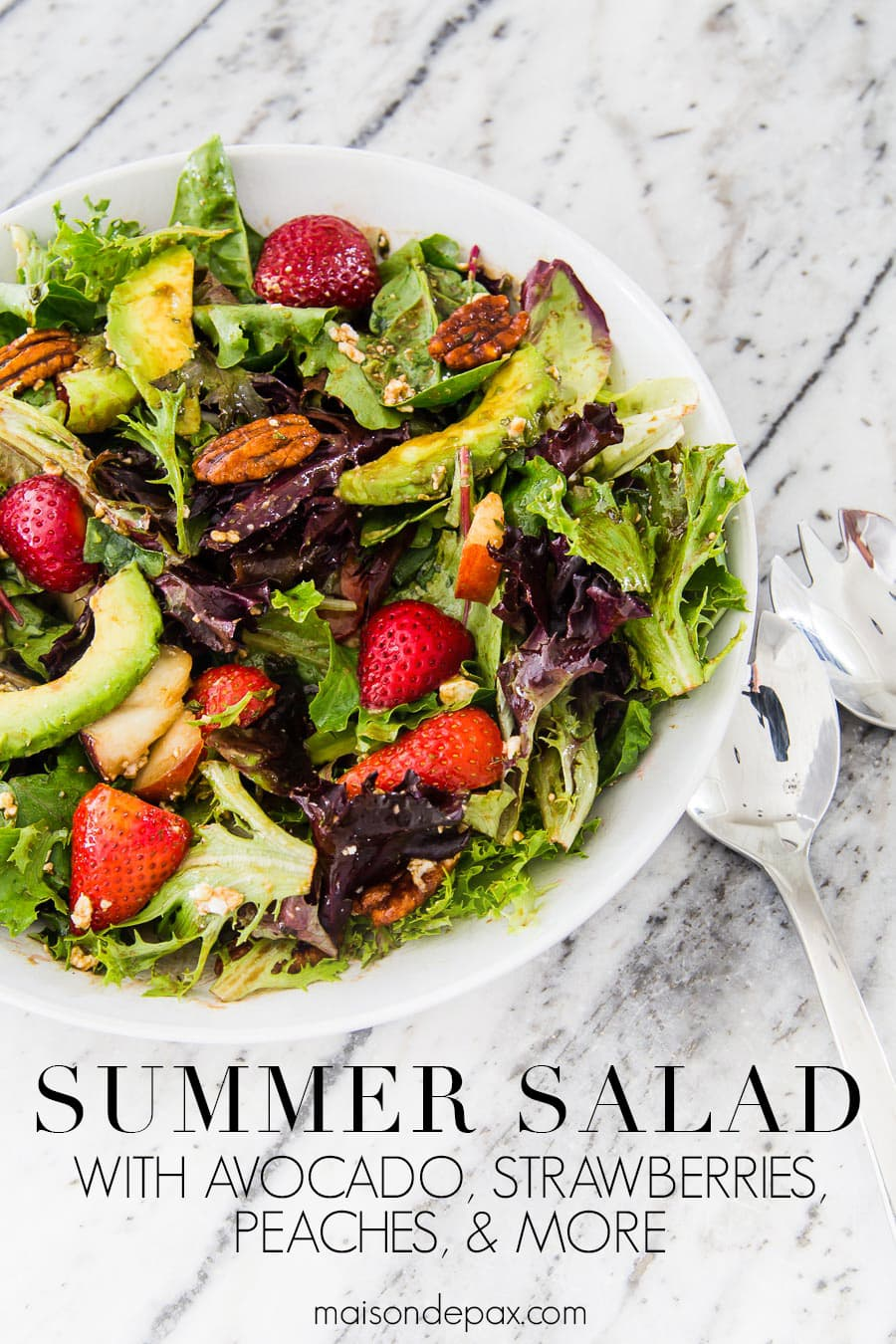 summer salad recipe with mixed greens | Maison de pax