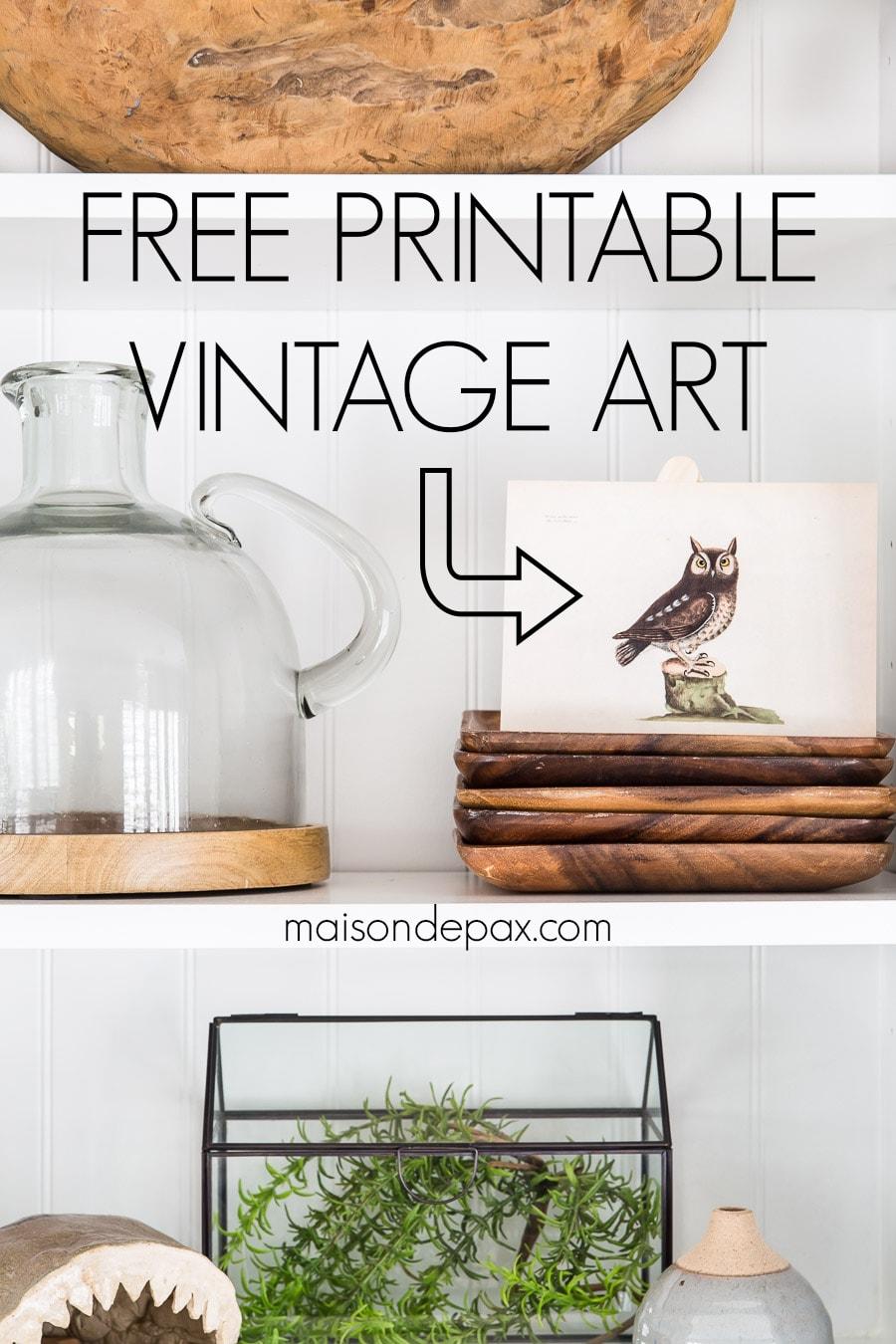free printable vintage art | Maison de Pax