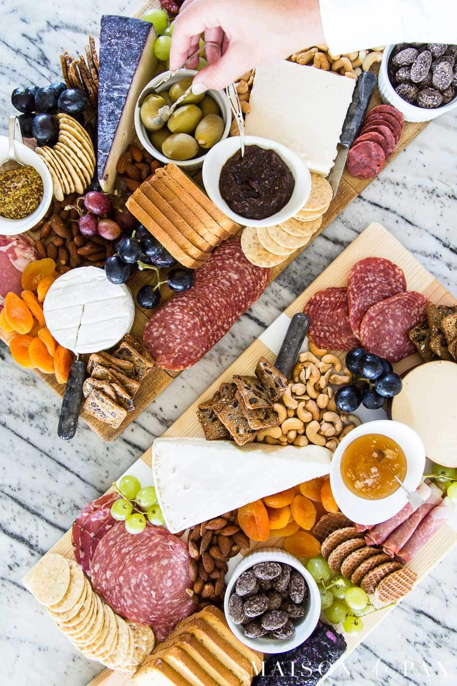 incredible diy charcuterie boards inspired by authentic antique french bread boards | Maison de Pax