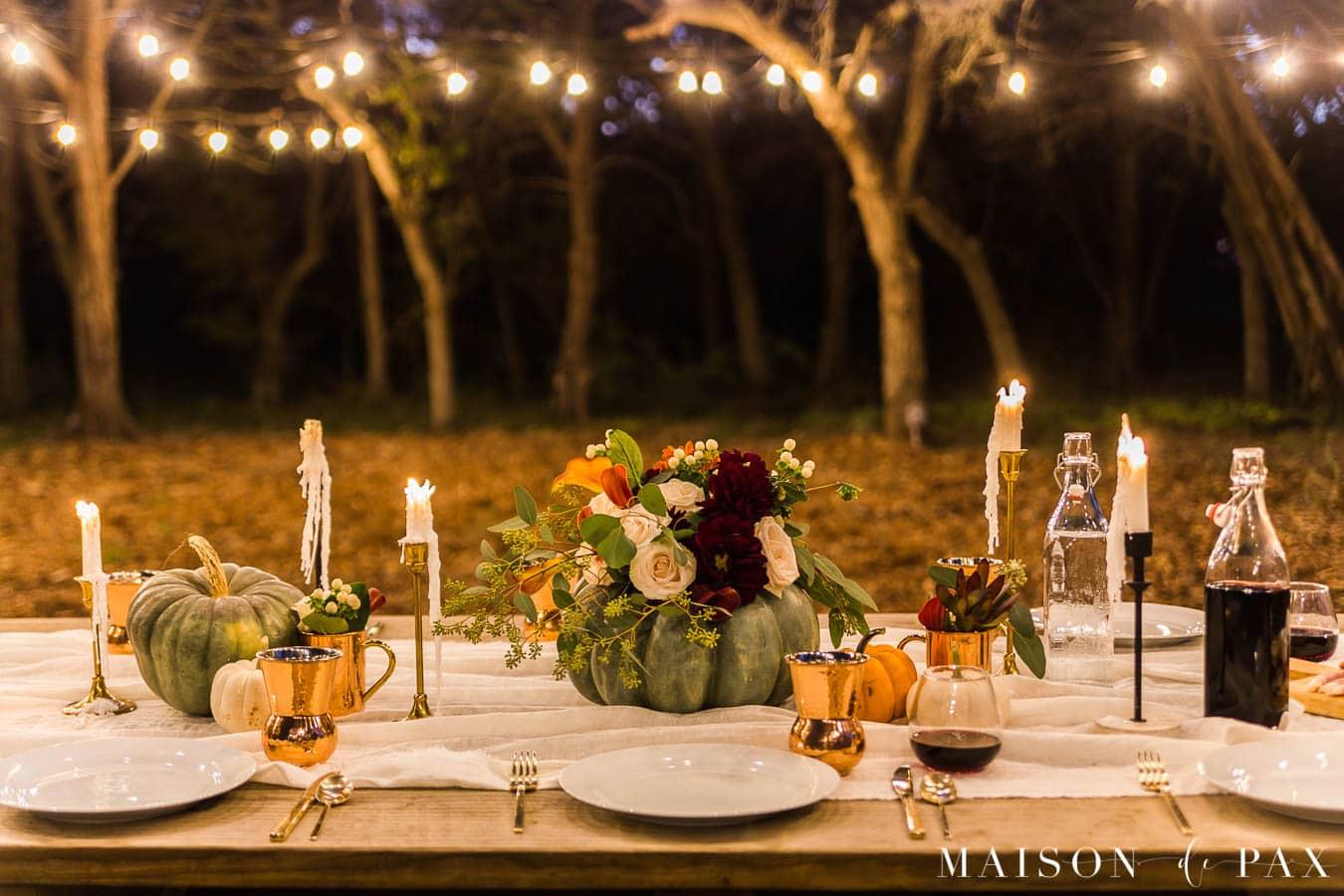 friendsgiving outdoor table | Maison de Pax