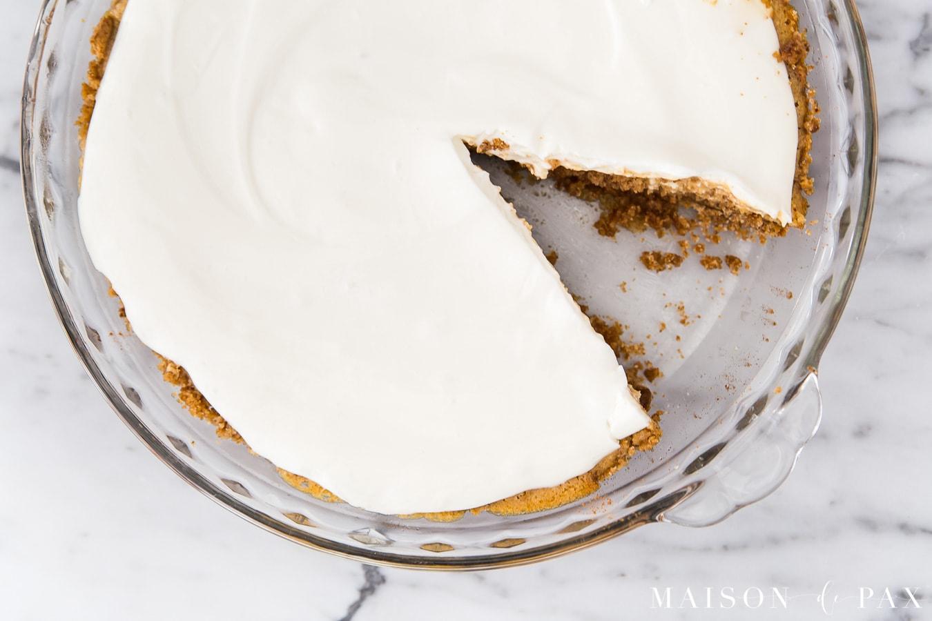 sour cream cheesecake with pumpkin filling | Maison de Pax