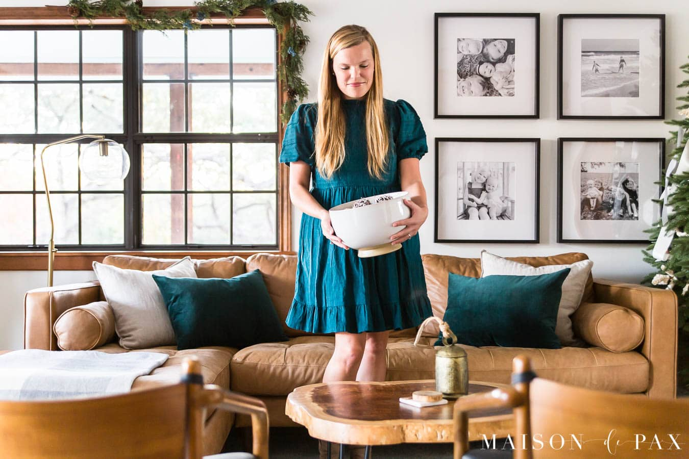woman decorating for holidays | Maison de Pax
