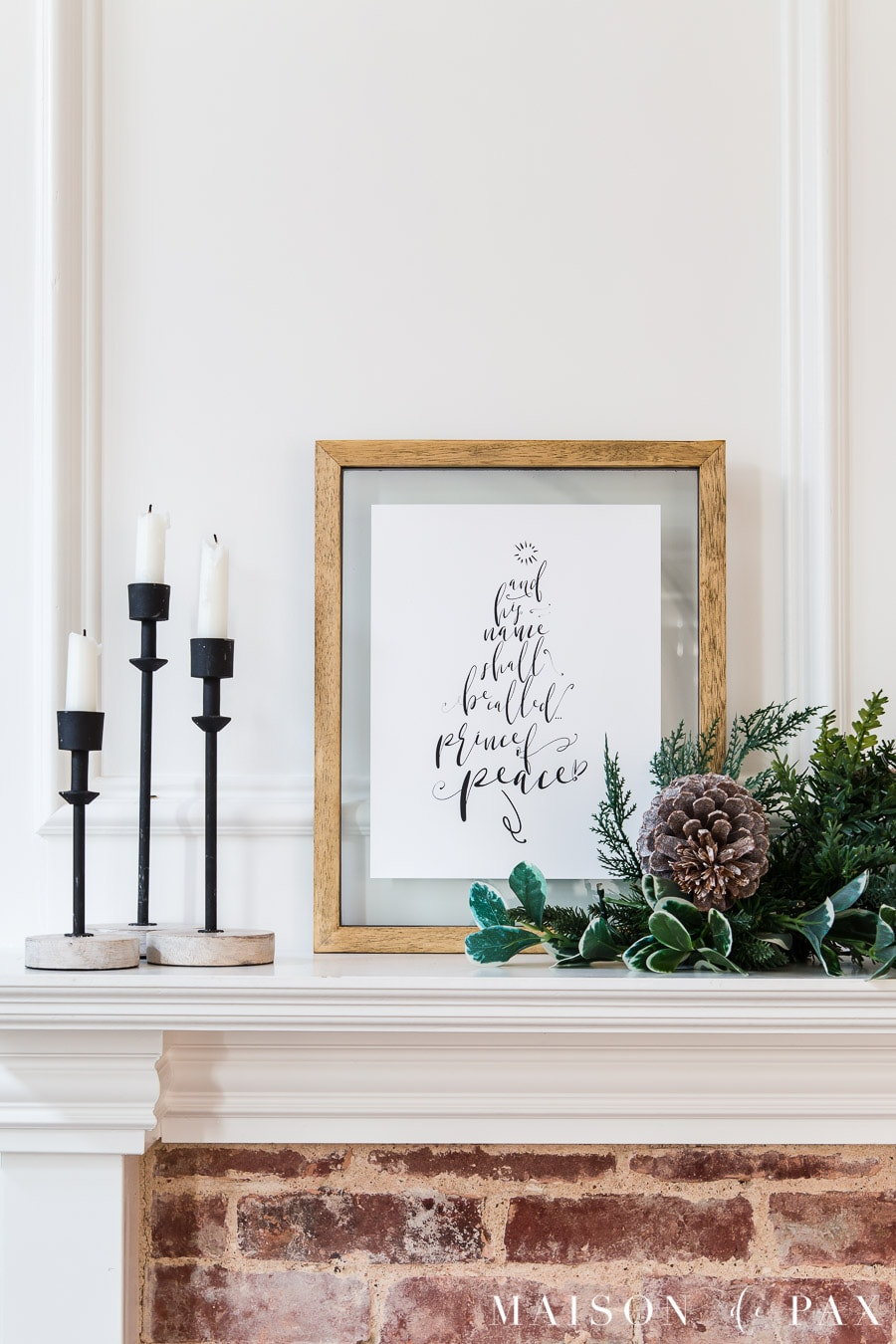 printable Christmas mantel art | Maison de Pax