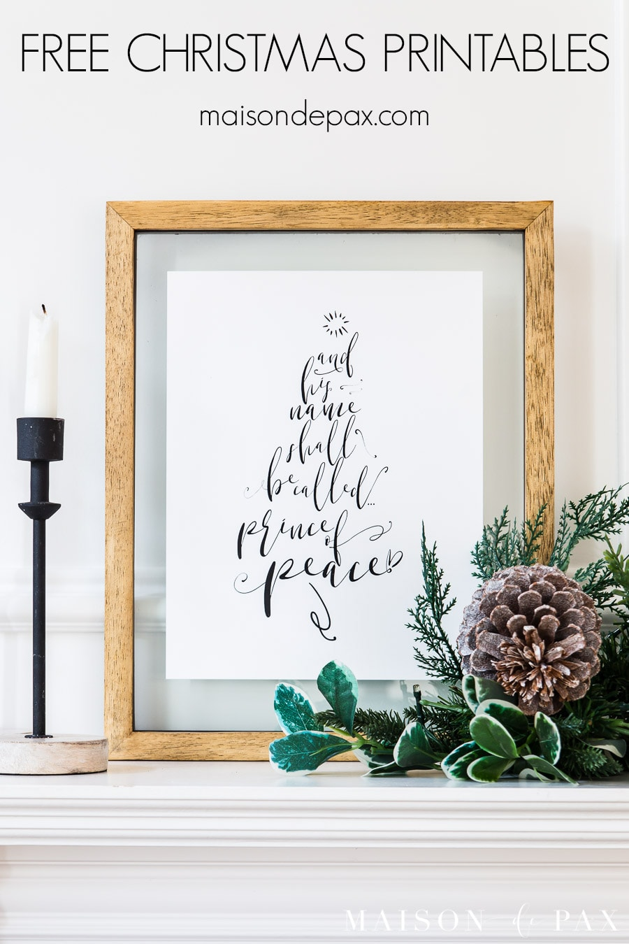 free holiday printable art | Maison de Pax