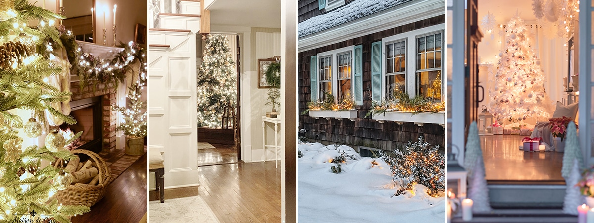 Magical Christmas home tours at night!