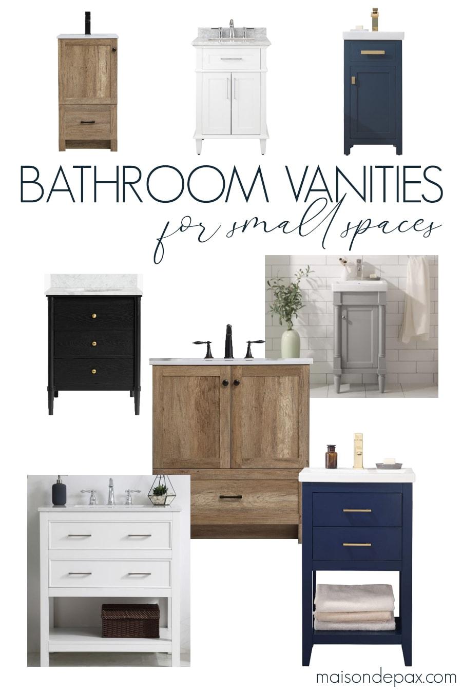 bathroom vanities for small spaces | Maison de Pax