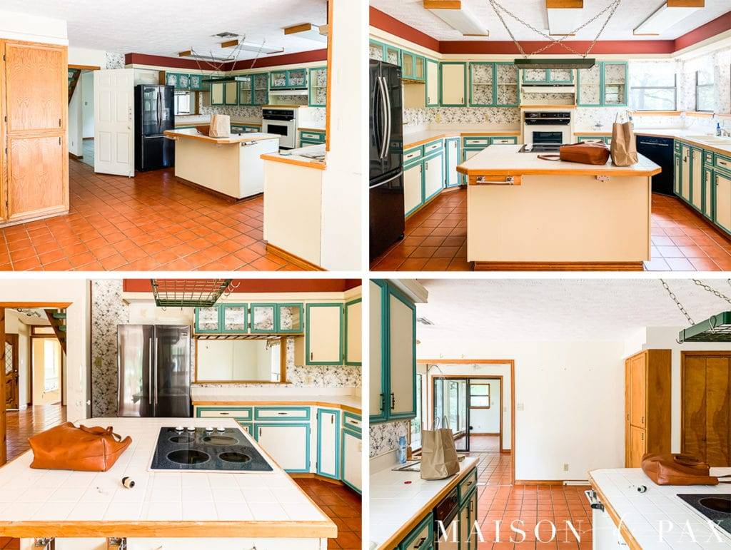 """80s kitchen """"before"""" - find out how to update!"""