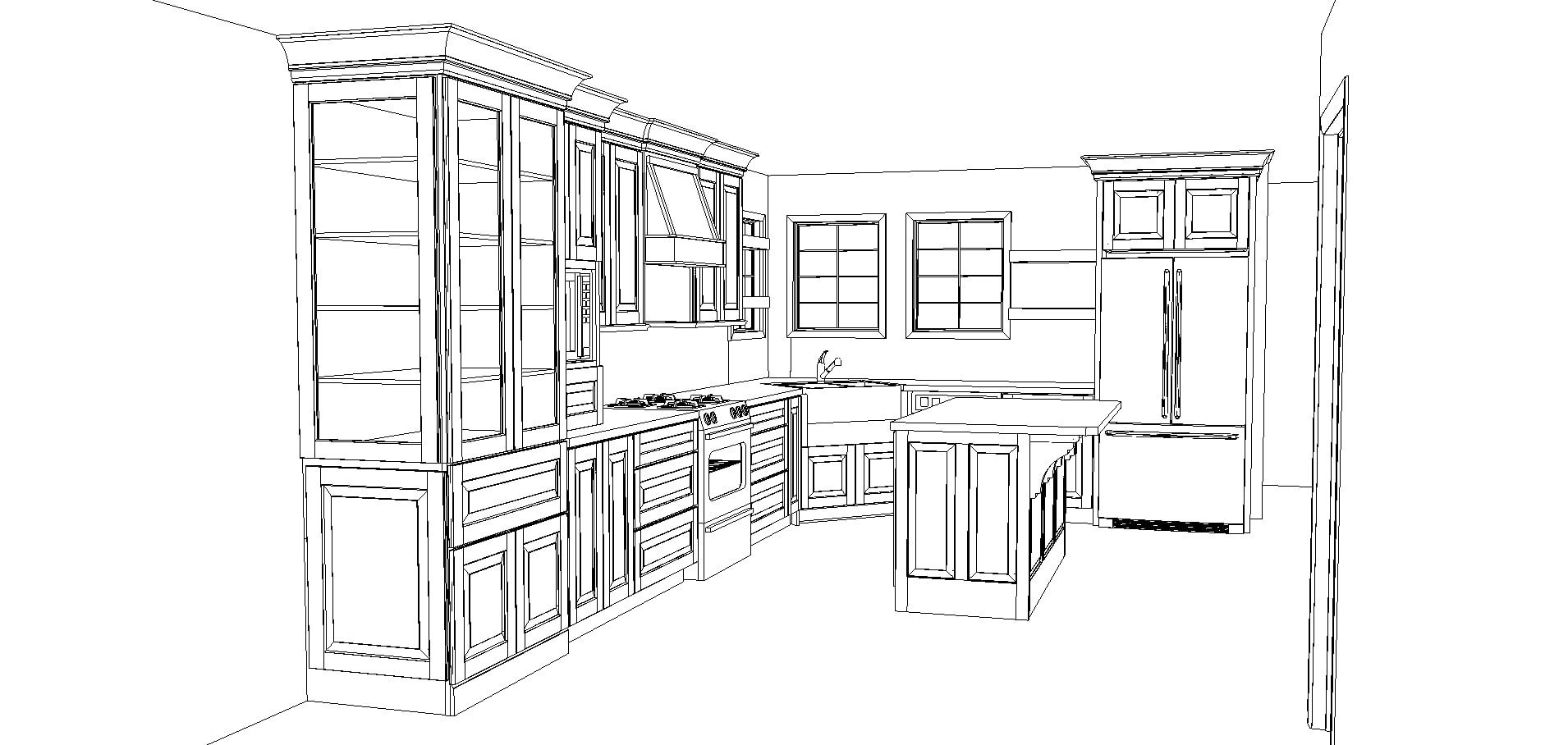 kitchen cabinet plans for a kitchen with island with Kraftmaid | Maison de Pax