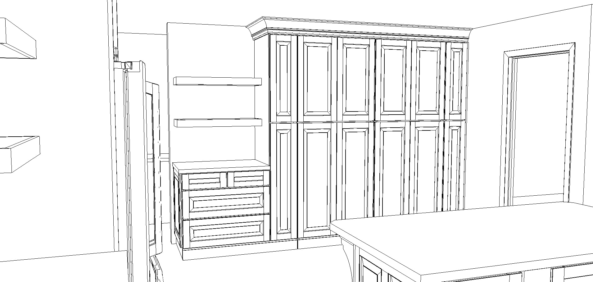 kitchen cabinet plans for a rustic refined kitchen with Kraftmaid | Maison de Pax