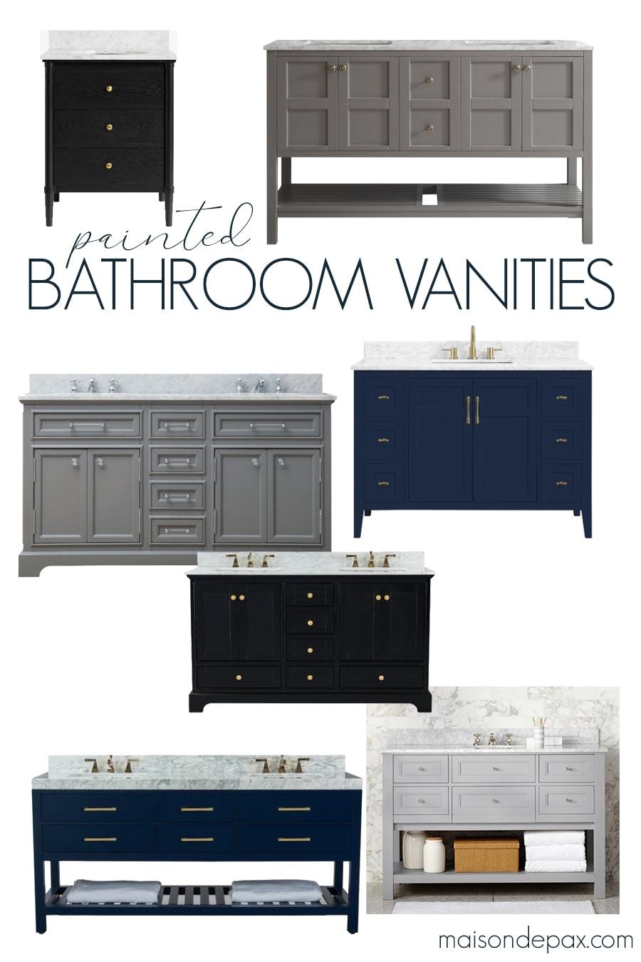 painted bathroom vanities | Maison de Pax
