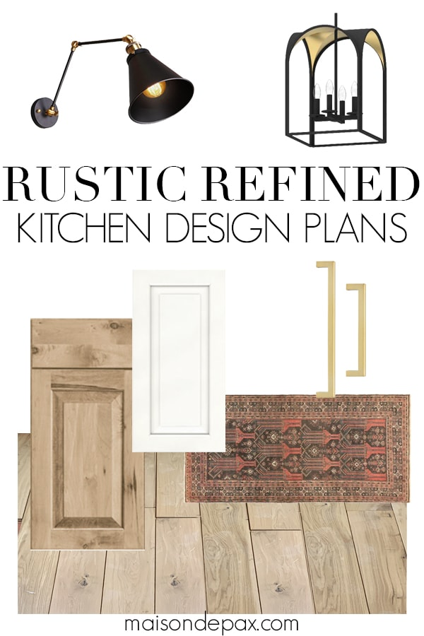 rustic refined kitchen design plans | Maison de Pax