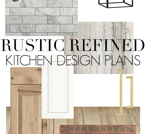 kitchen mood board with medium tone wood and marble | Maison de Pax