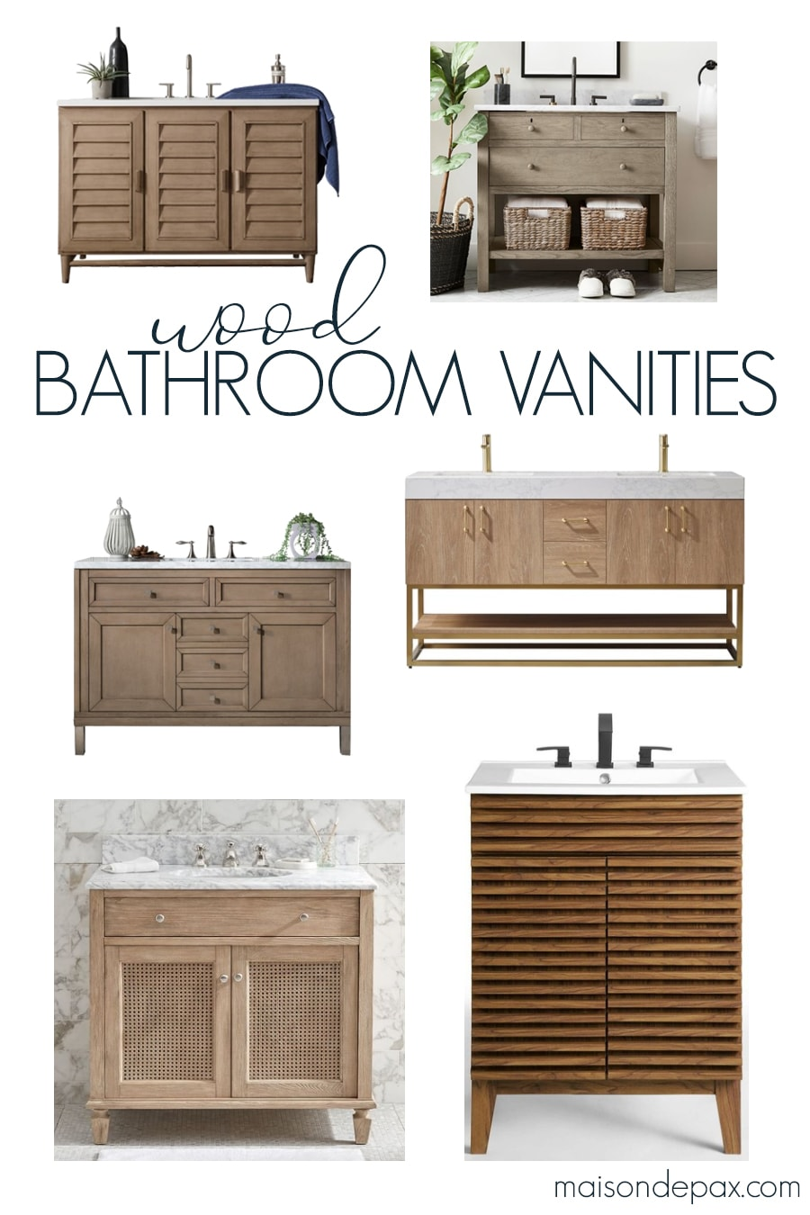 Natural Wood Bathroom Vanity Options Maison De Pax