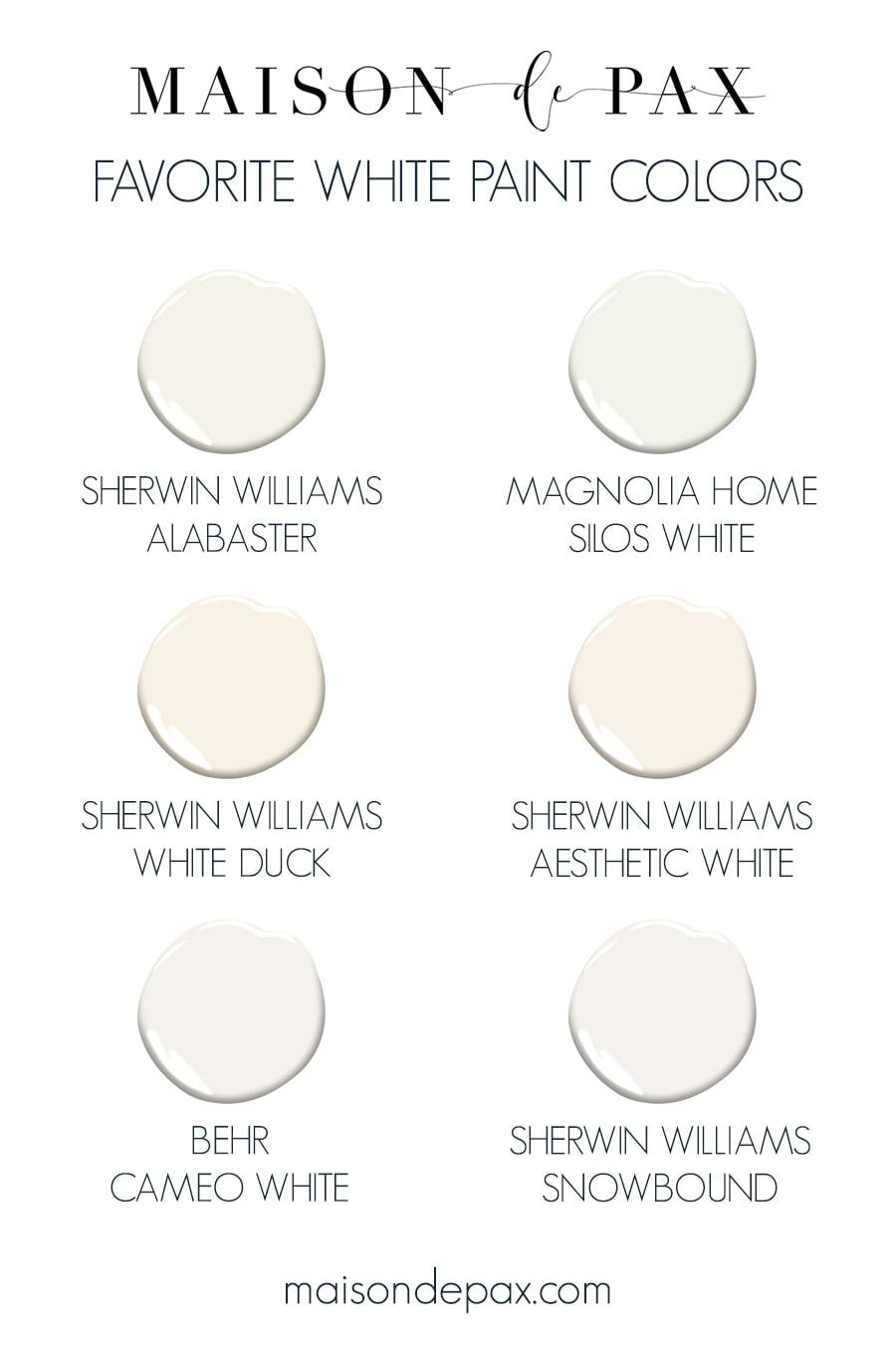 Best White Paint Colors For Any Home Maison De Pax