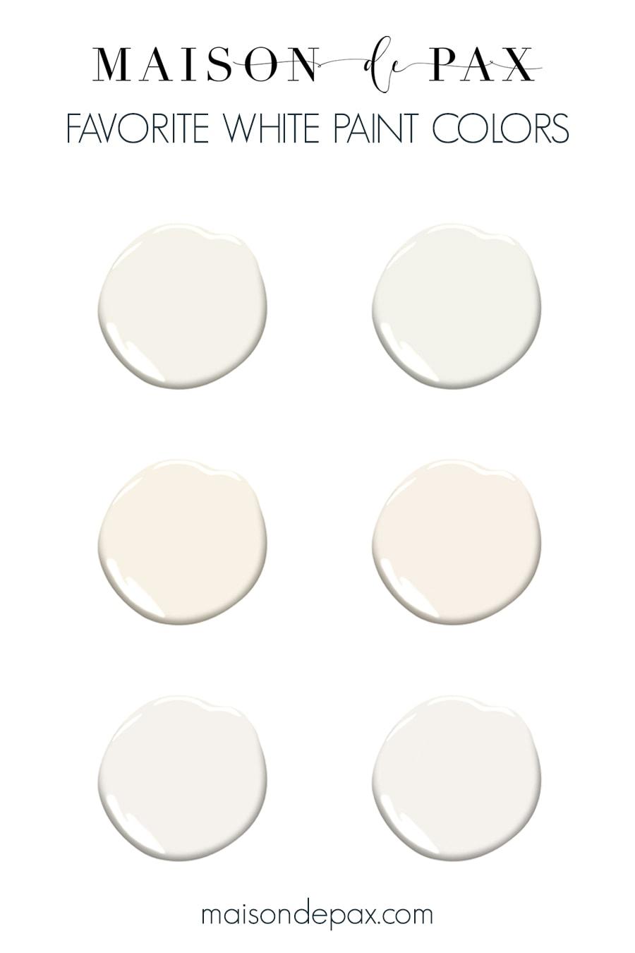 Maison de Pax's favorite white paint colors | Maison de Pax