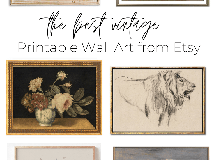 the best vintage printable wall art from Etsy | Maison de Pax