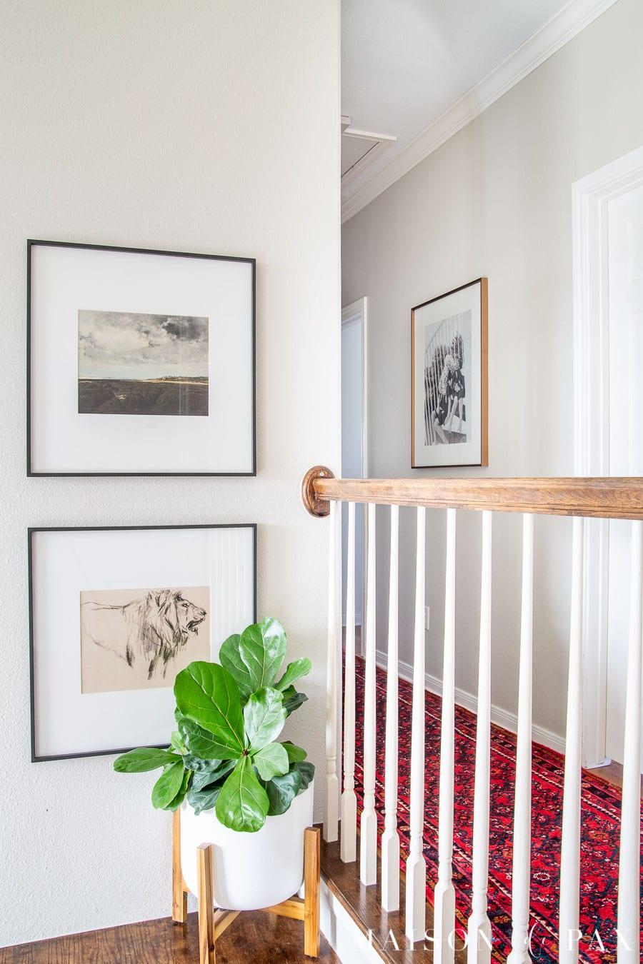 simple frames with printable vintage wall art | Maison de Pax