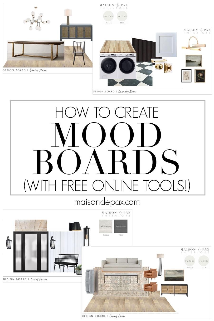 room makeover design boards and how to make them | Maison de Pax