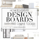 how to create design boards with free online tools | Maison de Pax