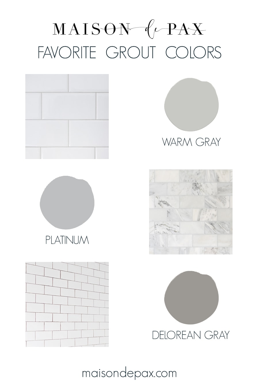 best grout colors for subway tile and marble
