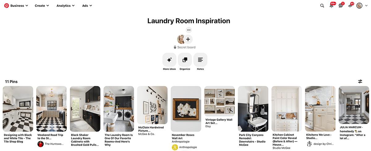 pinterest board for laundry room design | Maison de Pax