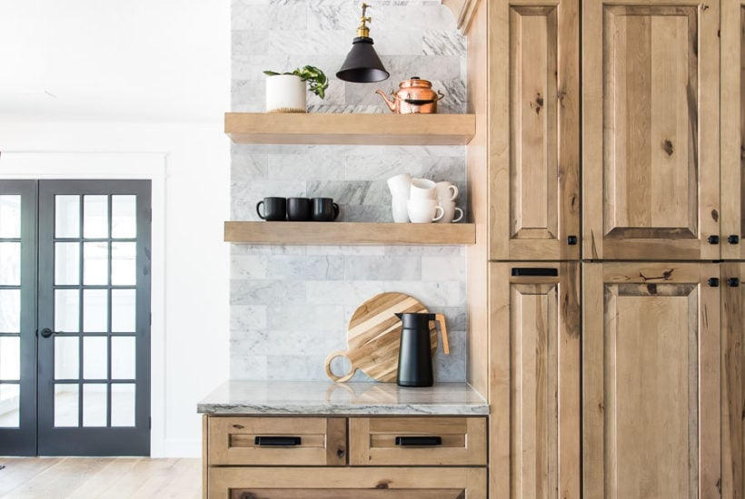 white oak wood floors with natural wood cabinets   Maison de Pax