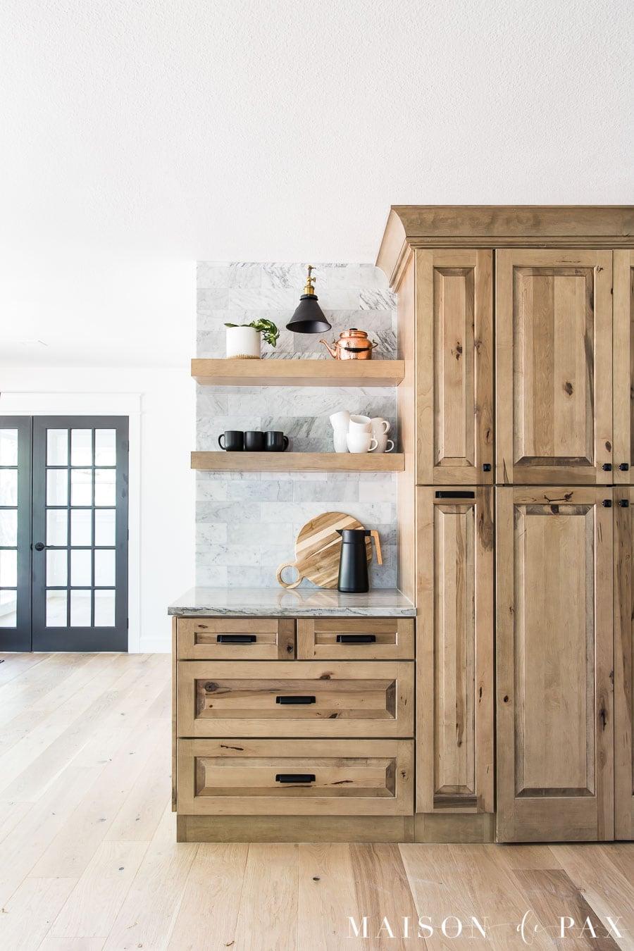 white oak wood floors with natural wood cabinets | Maison de Pax