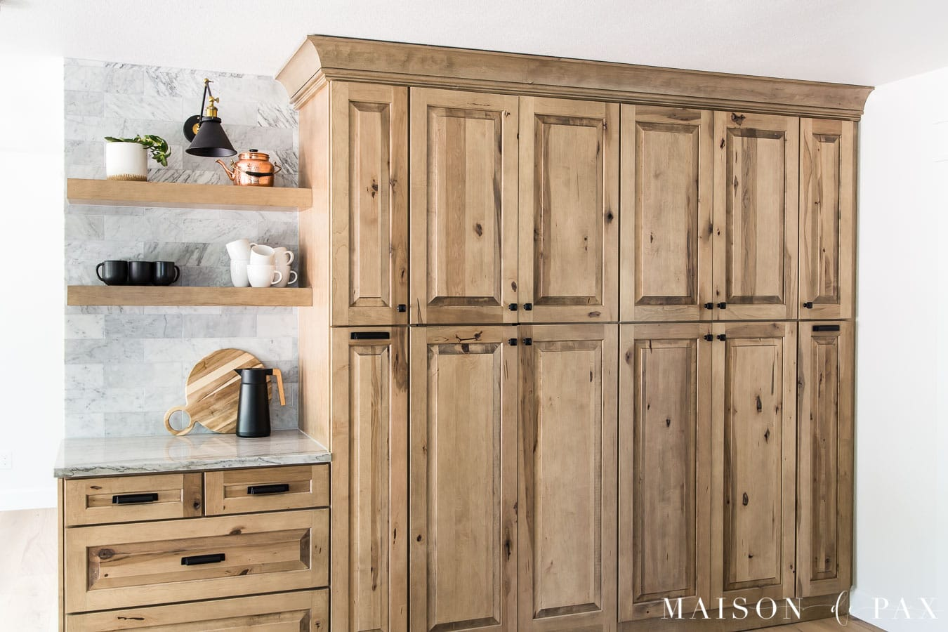 floor to ceiling wood pantry cabinets