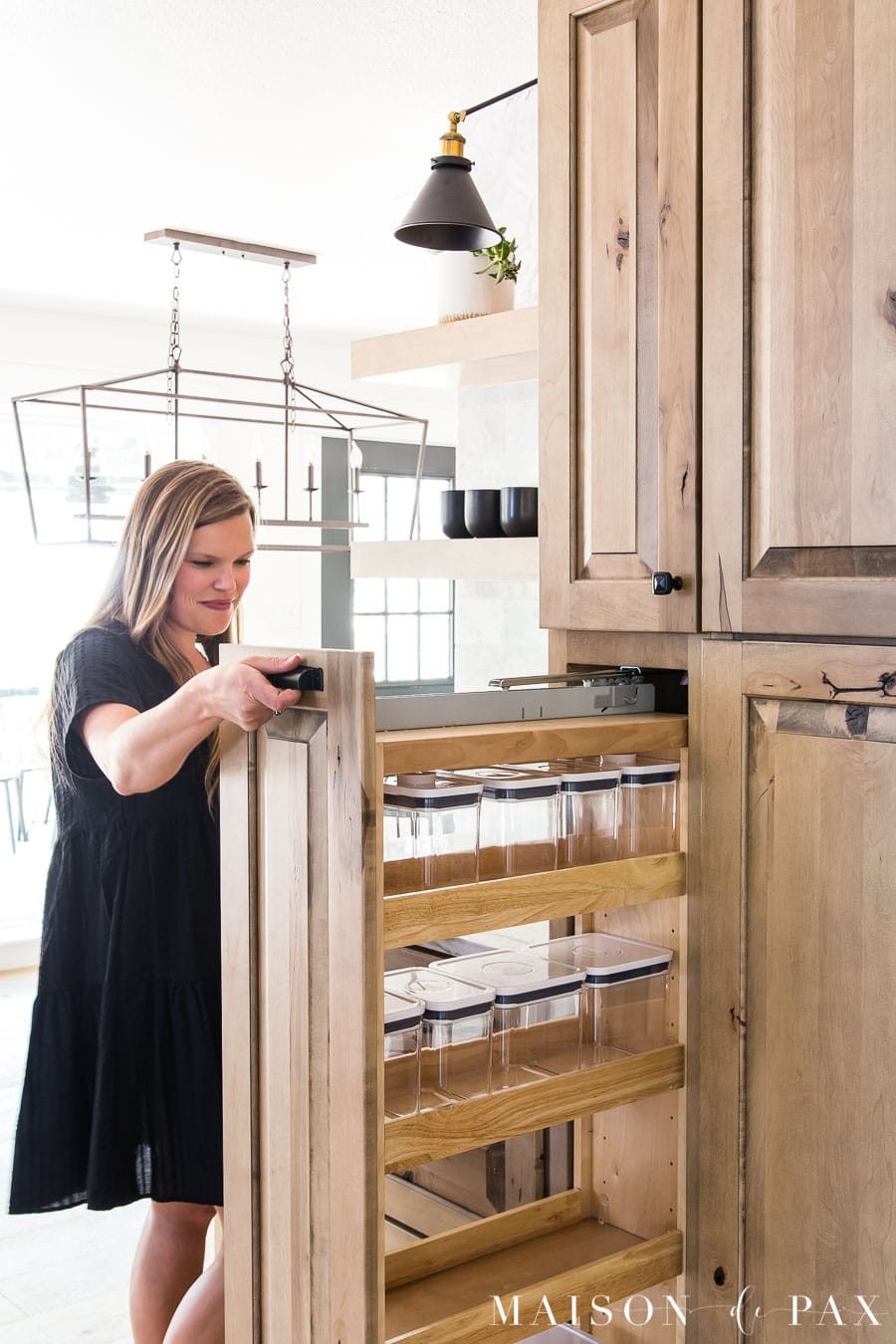 pull out pantry organizer: tall pull out with shelves