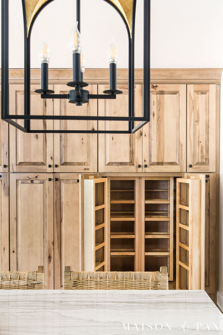 pantry organization tools: multi storage pantry section