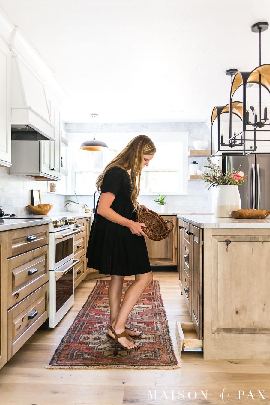 hidden toe kick drawers under kitchen cabinets