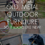 how to paint old metal outdoor furniture so it looks new