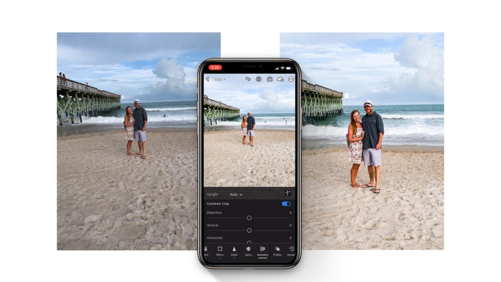 before and after lightroom mobile app editing