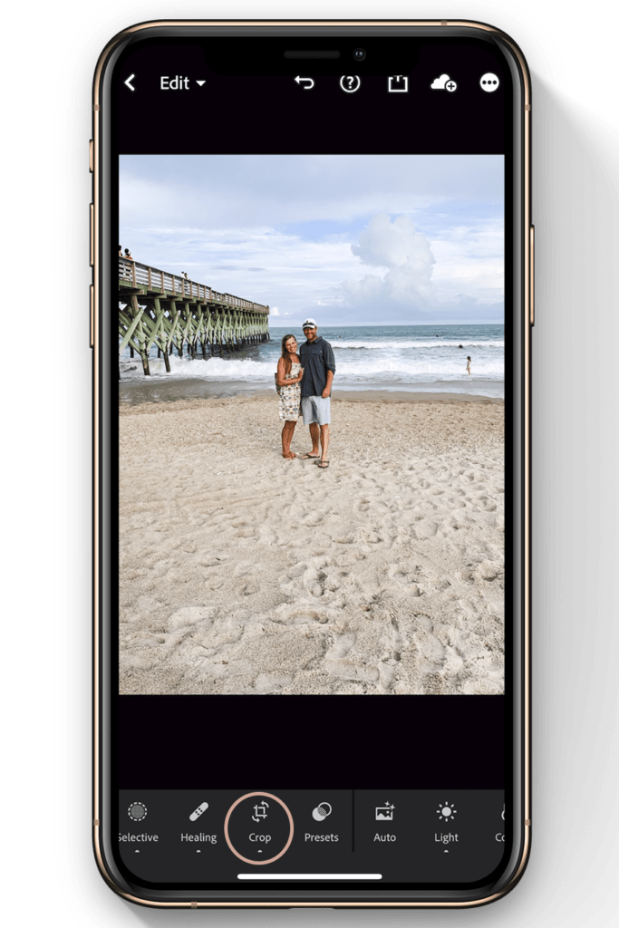 how to resize image in lightroom mobile