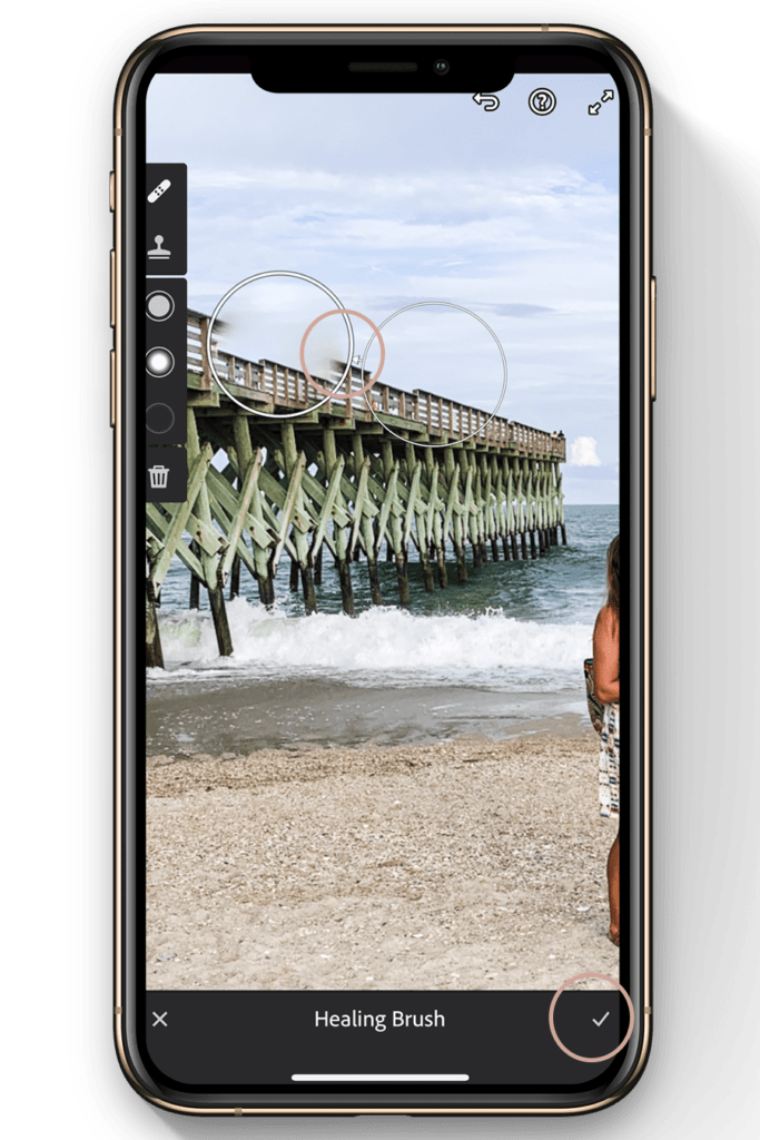 lightroom mobile editing tutorial-how to heal a portion