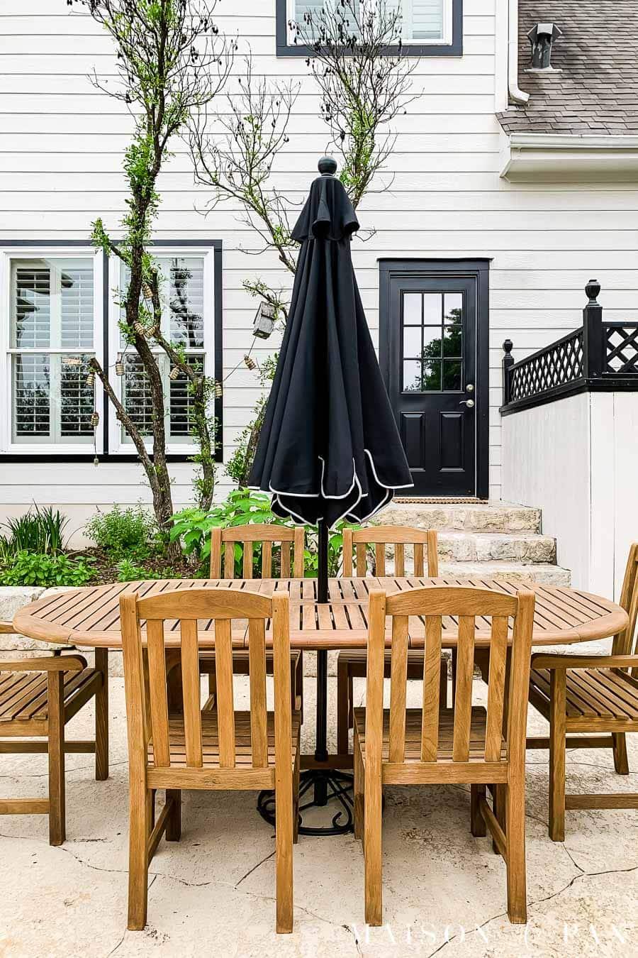teak wood furniture outdoor dining set