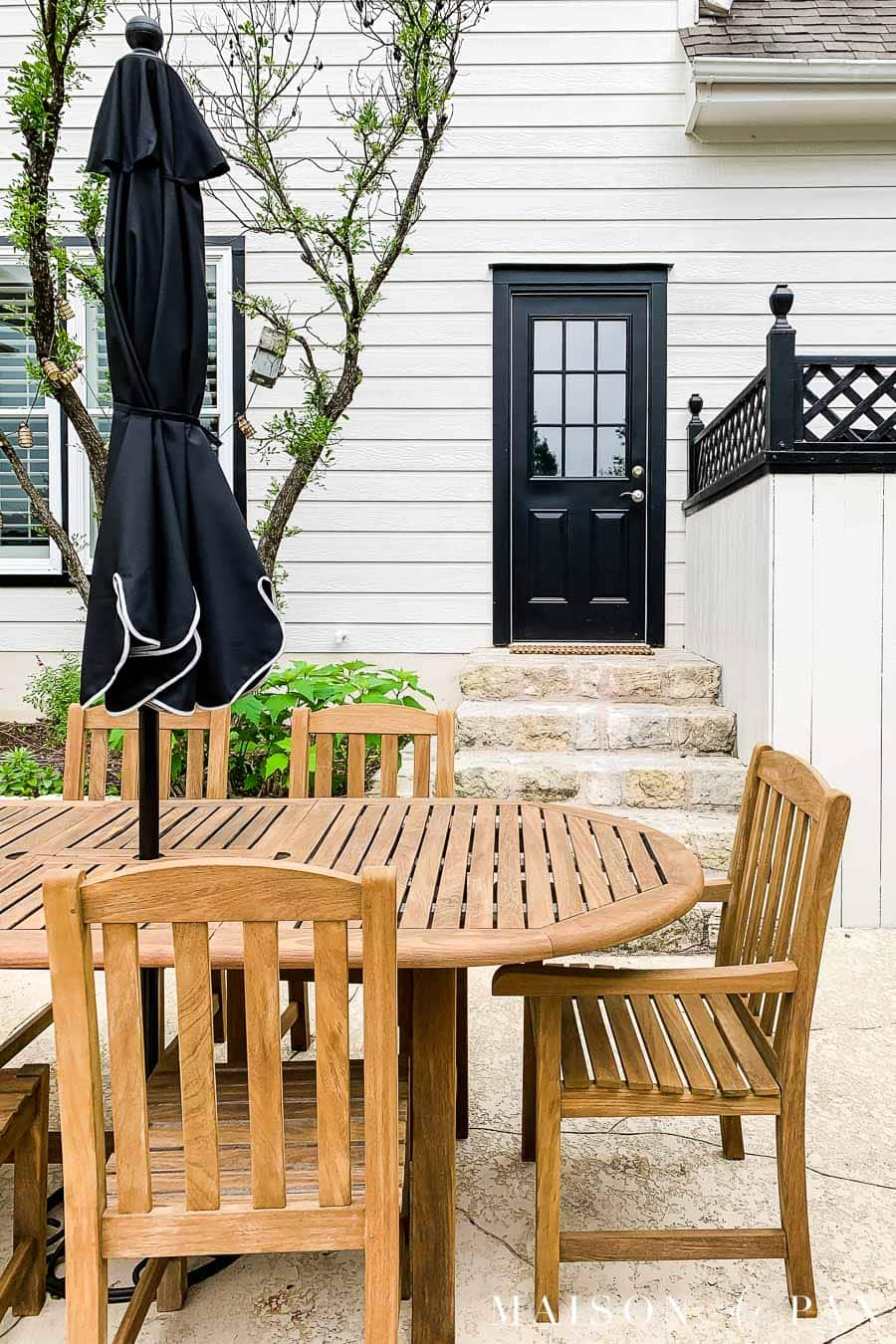 teak wood outdoor dining set