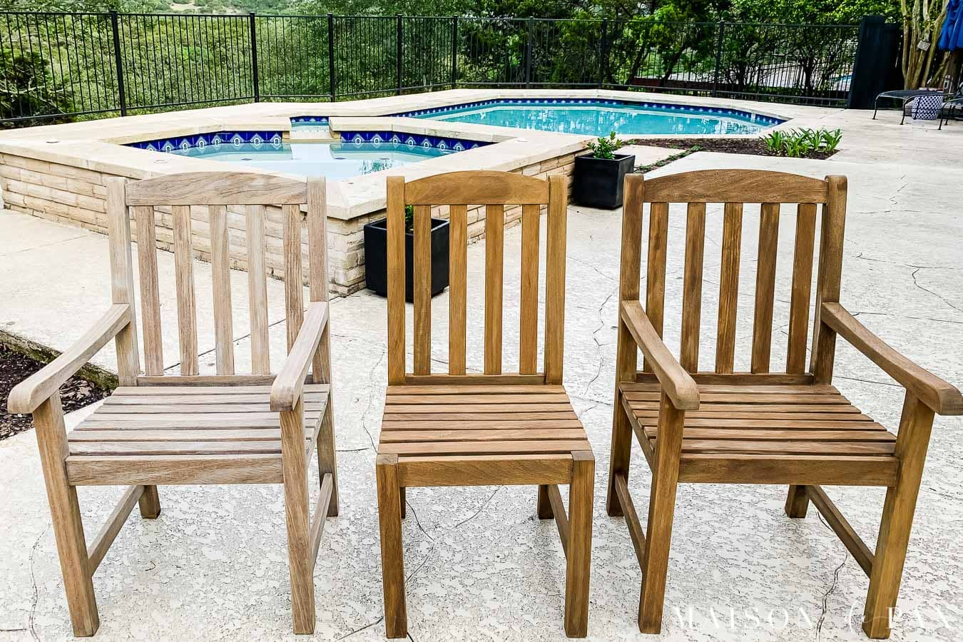 refinishing and protecting teak outdoor furniture