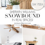 SW 7004 Snowbound in real spaces